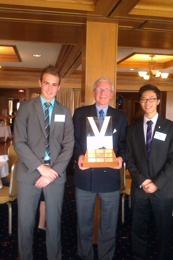 2013 Scholarship Winners, Fabian Jankovic and Jackey Lip, with Ian Marshall